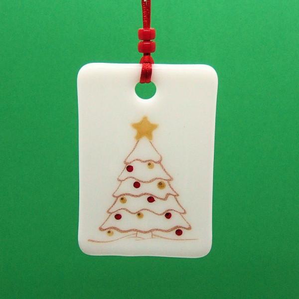 Fused-glass Christmas Decoration - 'Christmas Tree'