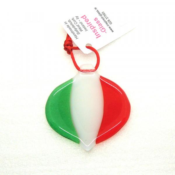 Tricolour Christmas Bauble Decoration
