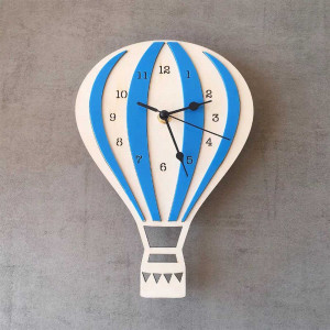Hot Air Balloon Decorative Kids Clock