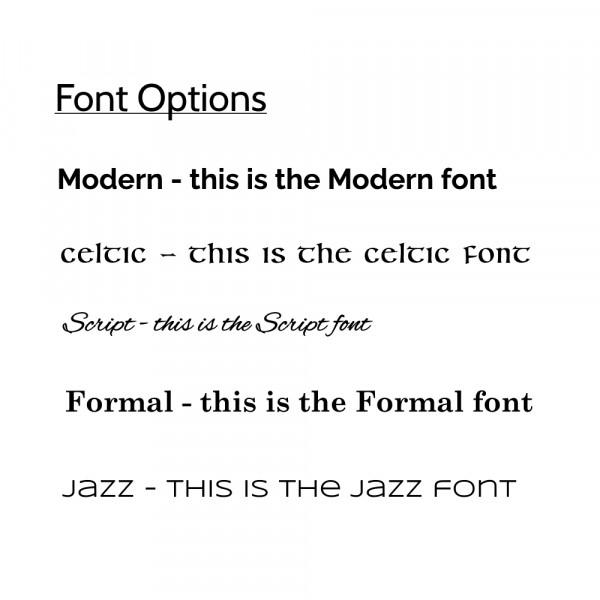 elevencorners ogham prints font options