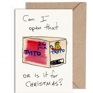 Funny Tayto Christmas Card