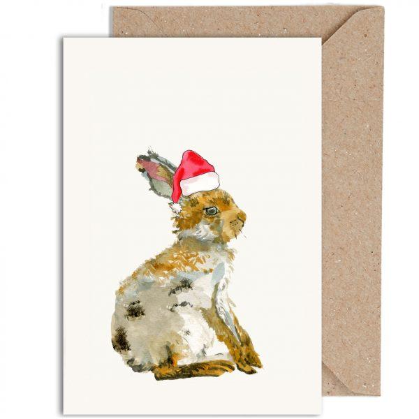 Hare Irish Wildlife Christmas Card