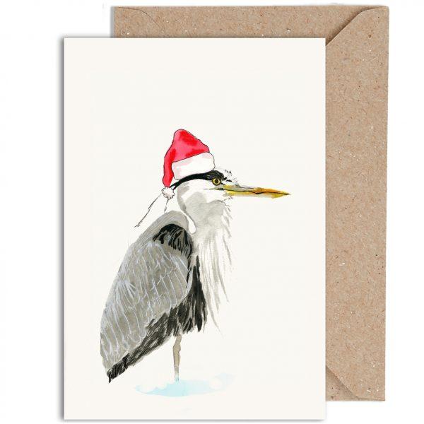 Heron Funny Christmas Card
