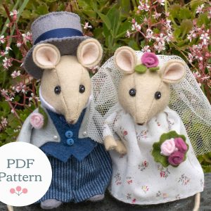 Mouse Wedding Topper PDF Sewing Pattern