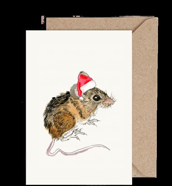 Mouse Irish Wildlife Christmas Card