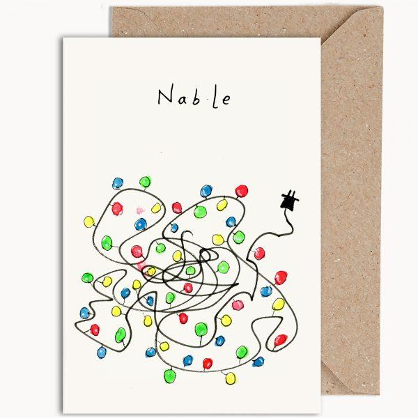 Funny Christmas Card Nable Christmas Lights