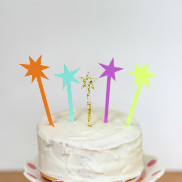 Starburst Cake Topper - Set of 5