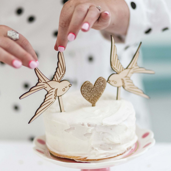 Love Birds Cake Topper - Set of 3