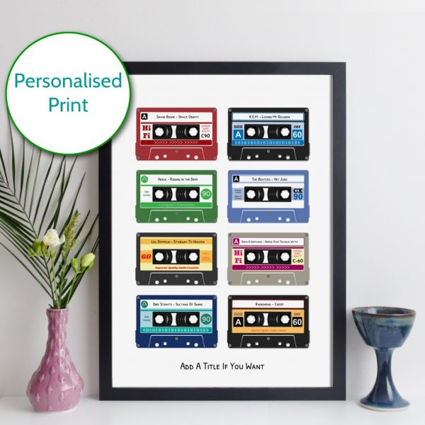 Personalised Cassette Tapes Print Grid