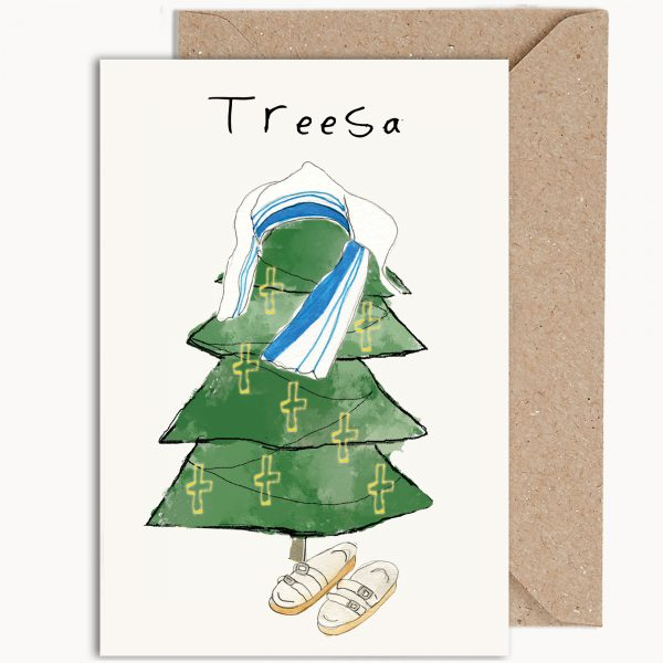 Mother Treesa Funny Christmas Card