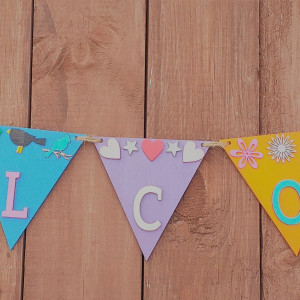 Wooden Decorative Flag Bunting