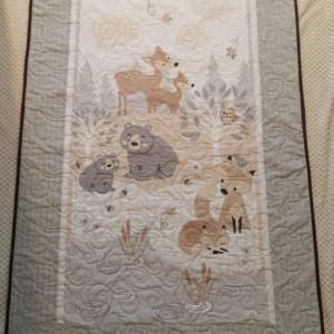Woodland Animals Cot/Bed Quilt