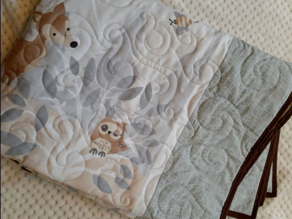 Woodland Animals Cot/Bed Quilt - woodland3