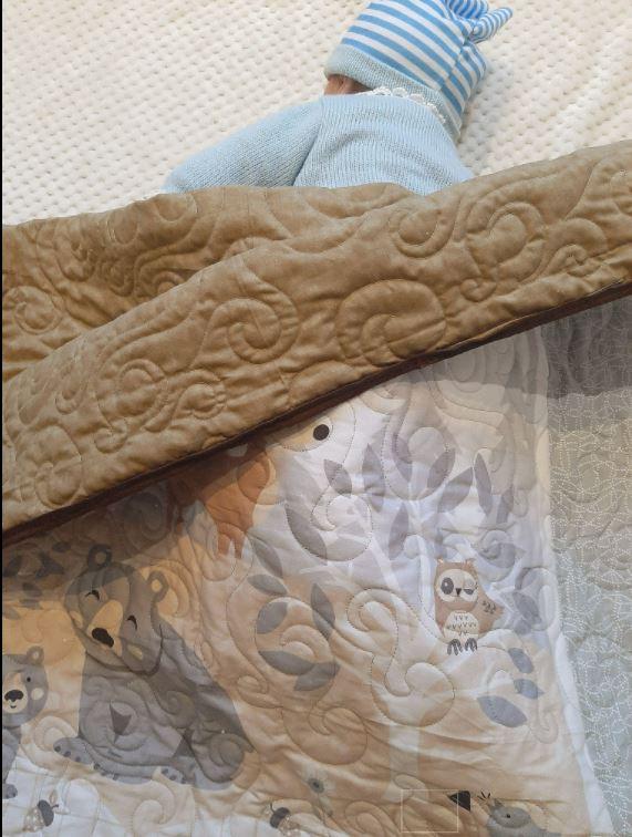 Woodland Animals Cot/Bed Quilt - woodland4