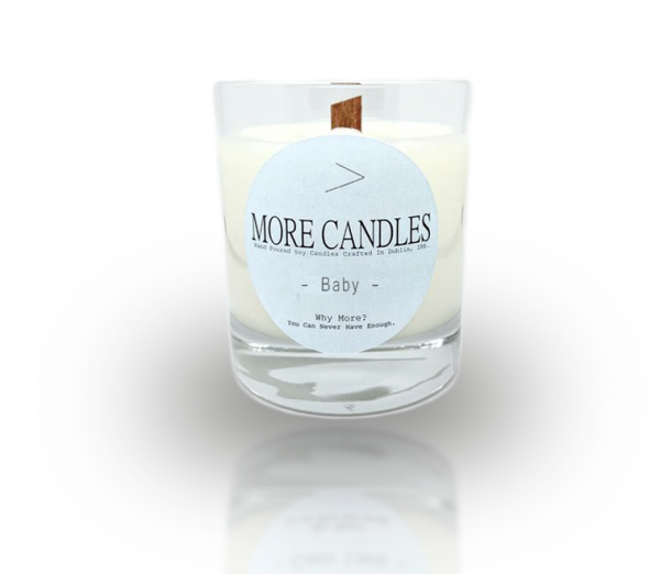 Baby Powder Scented Wood Wick Natural Soy Wax Candle