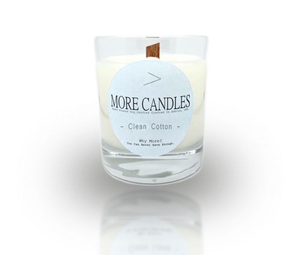 Clean Cotton Wood Wick Soy Candle