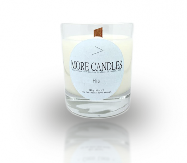 His Inspired by Wood Wick Soy Candle