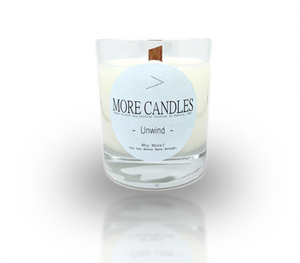 Unwind Wood Wick Natural Soy Candle