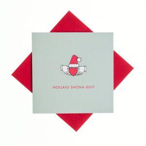 Nollaig Shona Duit Card - Claddagh