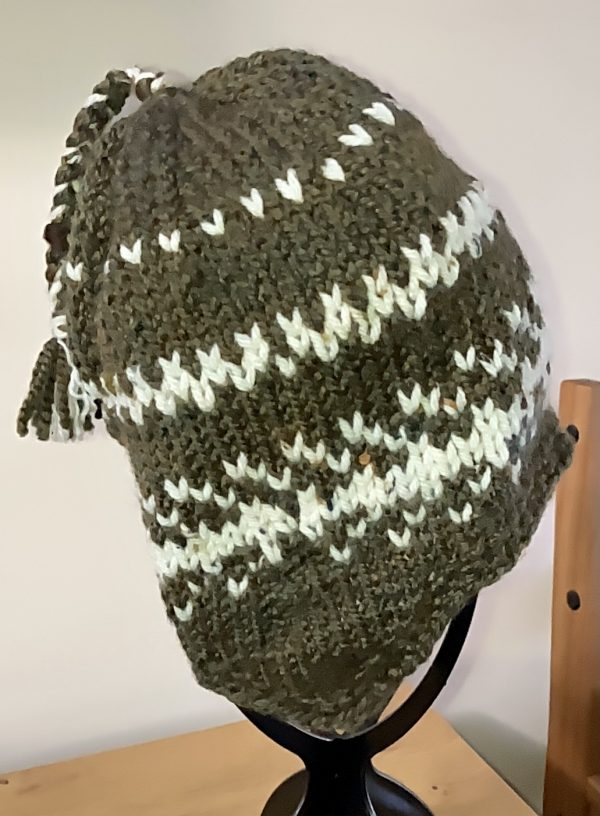 Adult Nordic-Style Knitted Hat - Bracken and Ivory