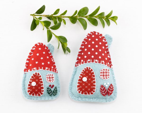 Little House Felt Ornaments Set (Red White & Blue) - 10th August 1638 scaled