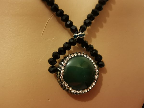 Twisted Green Necklace - 14 scaled