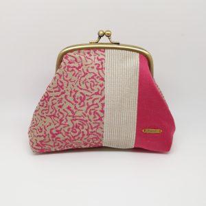 Pink & Beige Clutch Bag