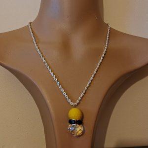 Yellow Purple Sparkle Necklace