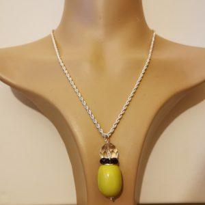 Lime Sparkle Crystal Pendant