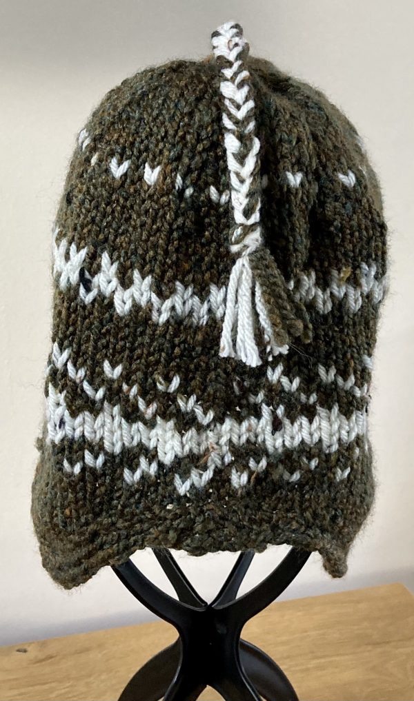 Adult Nordic-Style Knitted Hat - Bracken and Ivory - 2C548A45 F7C2 4B54 AE72 2091D391DB7C