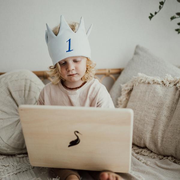 Kids Personalised Crown - Blue - 2 7b831ada 2c0e 4a17 9859