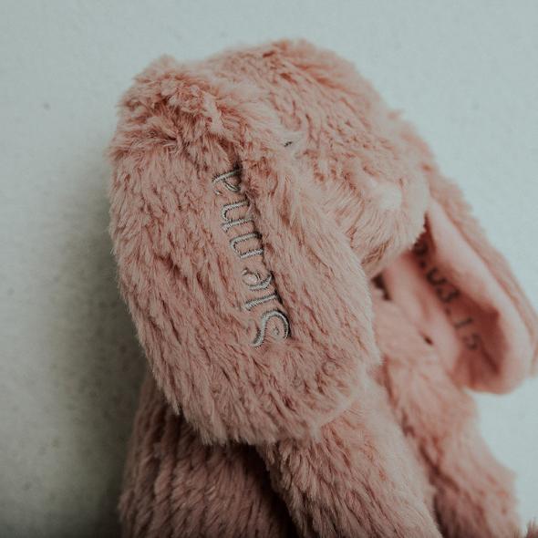 Personalised Pink Bunny Teddy - 3 0cf40230 305b 4692 85b4