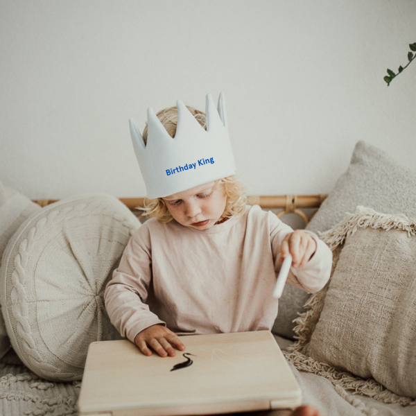 Kids Personalised Crown - Blue - 3 645f9d2d 9952 423e 8d07