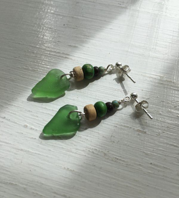 Green Sea Glass Earrings - 5648BA5C 41B1 4DF8 9128 6B021B2C0A2D scaled