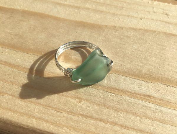 Green Sea Glass Ring