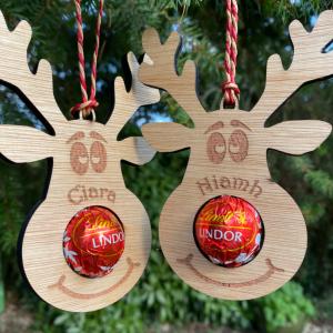 Personalised Reindeer Chocolate Decoration