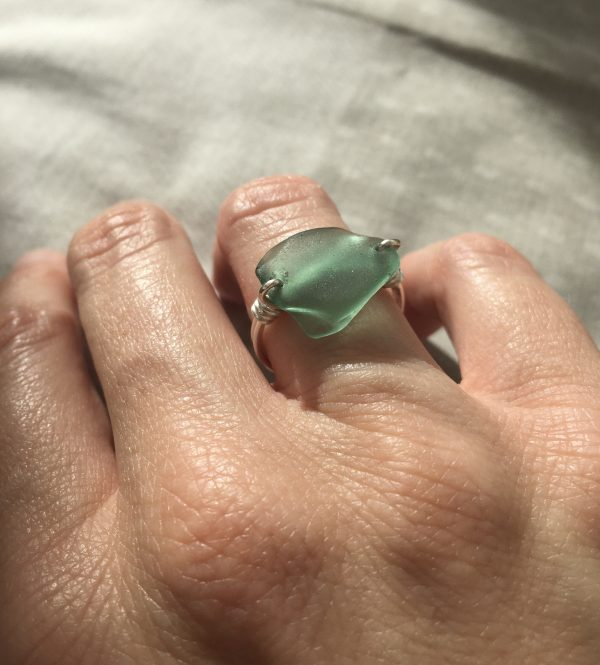 Green Sea Glass Ring - 7448E76F 46BB 4F8E BDFF 8E0F854D75EA scaled