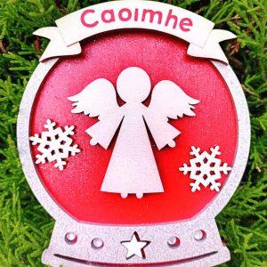 Personalised Angel Snow Globe Decoration