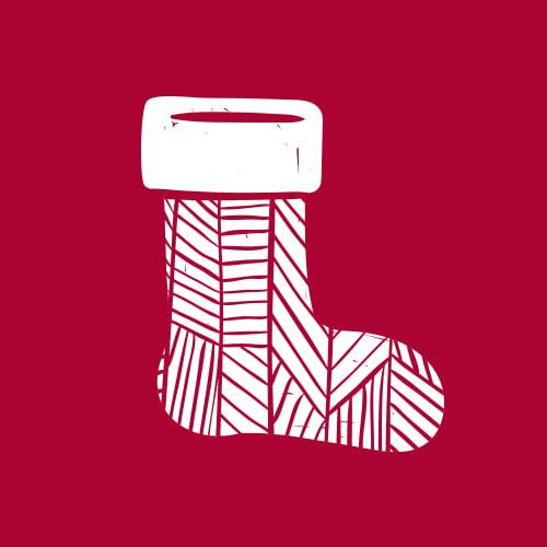 New Gift Ideas - Christmas Stockings Logo icon MS