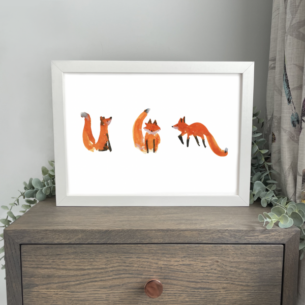 Clever Foxes A4 Print Wild Watermelon