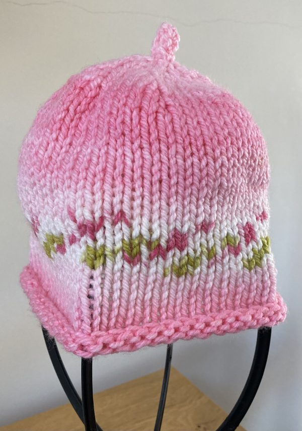 Kids Knitted Hat - Pretty in Pink
