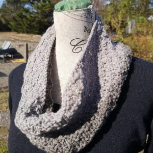 Two Tone textured Mobius Cowl Scarf