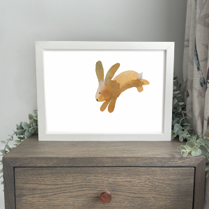 Leaping Bunny A4 Print Wild Watermelon