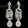 Single Orbit Pearl Earrings