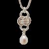 Single Orbit Pearl Necklace