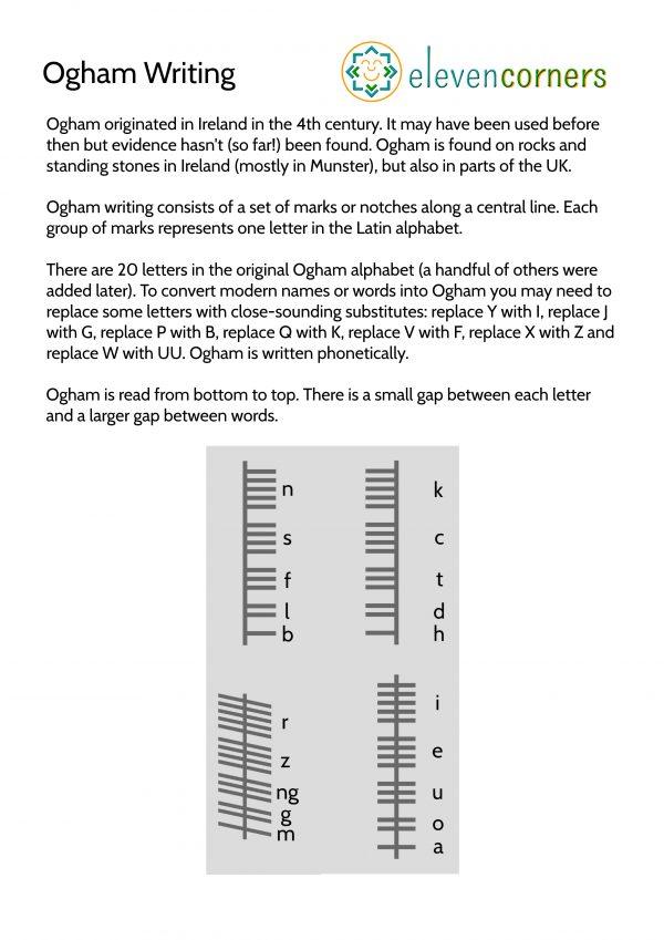 elevencorners Ogham summary