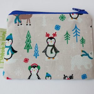 Dusty Pink Penguin Coin Purse