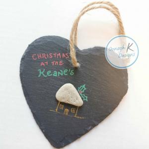 Christmas slate heart
