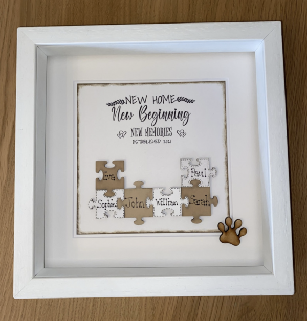 New Home Puzzle Art frame
