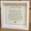 Memorial Poem Frame